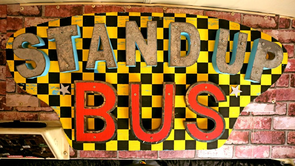 Stand Up Bus Sign